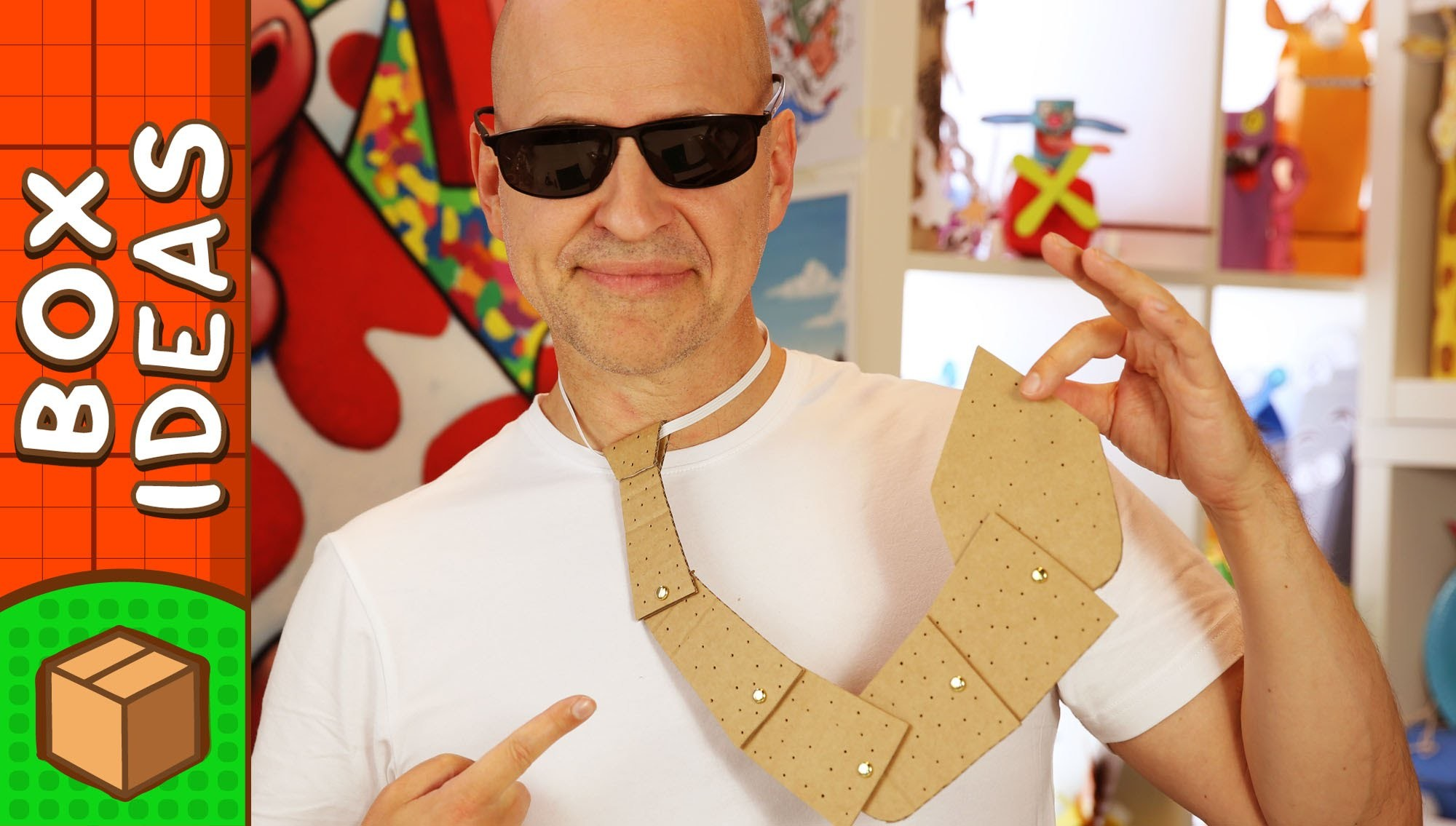 DIY Father's Day Crafts - Cardboard Tie   Craft Ideas for Kids on Box Yourself