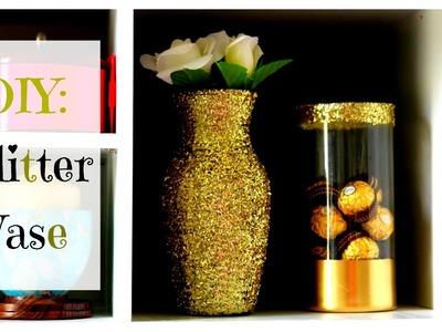 Decor Diy Gold Glitter Vase Diy Gold Glitter Vase Diy