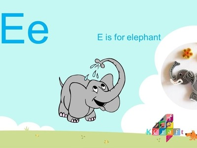 DIY: How to make a cute Quilling elephant ( Quilling Animal ) - K4Craft
