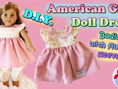 DIY | How to make a dress with flutter sleeves for your American Girl doll