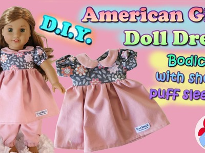 DIY | How to sew a dress with short puff sleeves for your (American Girl) doll • Sami Doll Tutorials