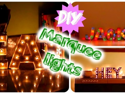 DIY marquee lights