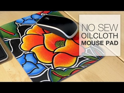 DIY No Sew Oilcloth Mouse Pad