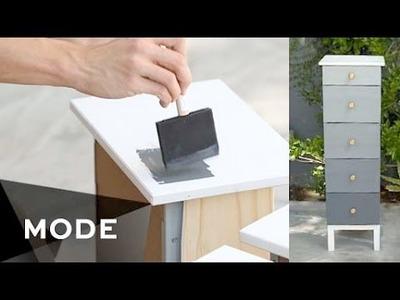 DIY Ombre Dresser | Right at Home ★ Mode.com