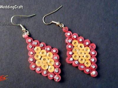 DIY Paper Quilling Earrings | How to make | JK Wedding Craft 102
