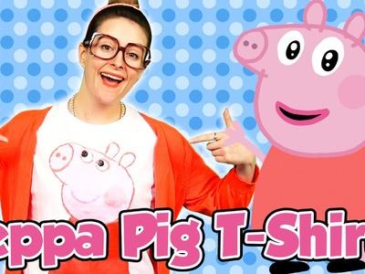 DIY Peppa Pig T-Shirt Craft with Crafty Carol | Cool School Arts and Crafts