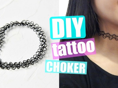 DIY Tattoo Choker Necklace
