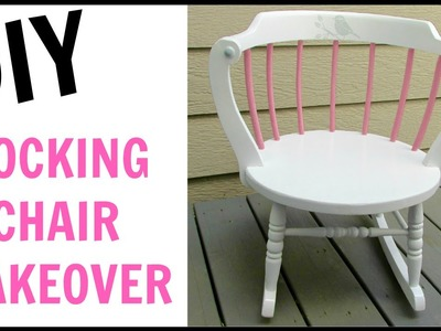 Garbage to Gorgeous ® Episode 12:  Little Girl Rocking Chair Makeover DIY ~ Craft Klatch ~ How To