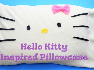 Hello Kitty Inspired Pillow Case (with no sew option) [Craft Tutorial by Kawaii Felting]