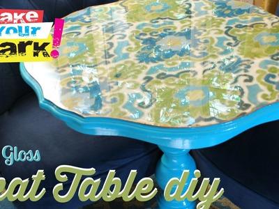 How to: High Gloss Ikat Table DIY