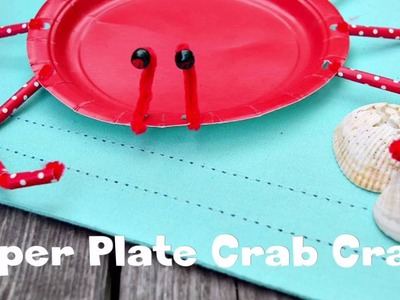 How to Make A Crab Craft from A Paper Plate - DIY