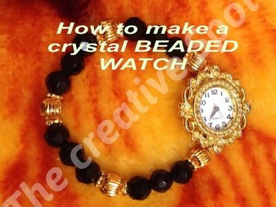 HOW TO MAKE A CRYSTAL WATCH -5 MINUTE   CRAFT