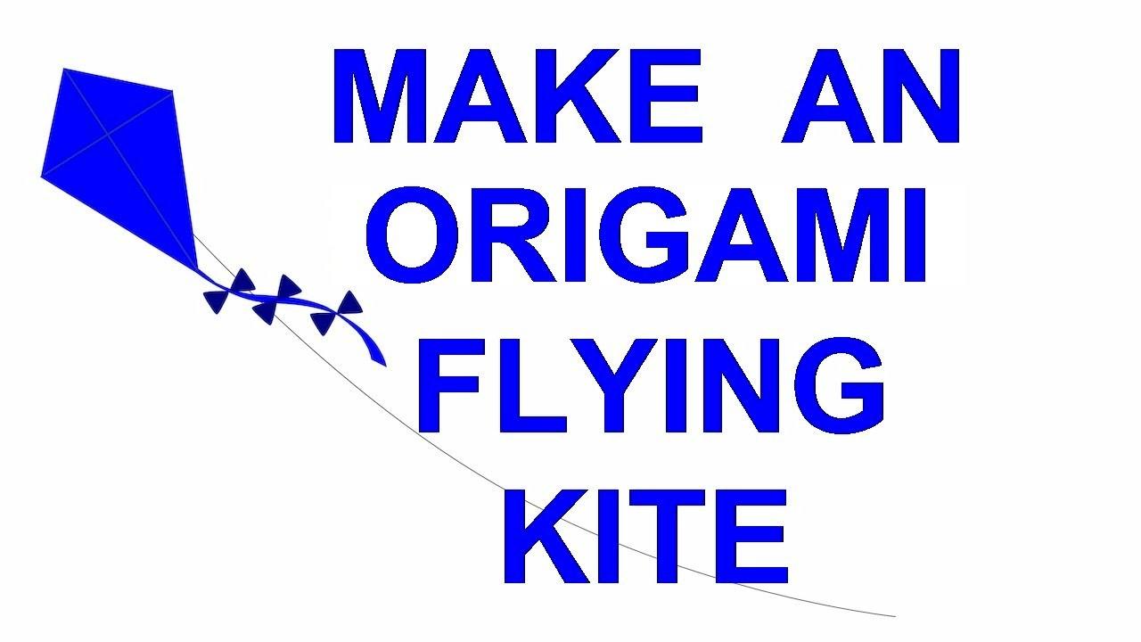 How To Make A Flying Origami Kite - Fun Kid's Craft - Turkish Devil Kite #origami #kite #papercraft