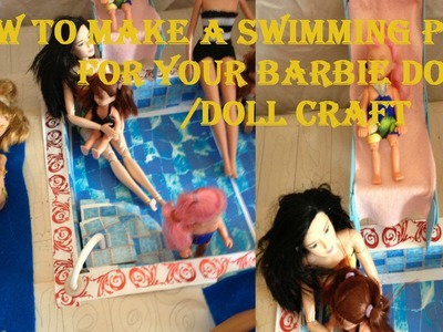 How To Make a Mini Swimming Pool.Doll Craft