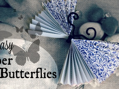 How to Make a Paper Butterfly | Quick and Easy DIY Summer Craft Project | The Magic Crafter