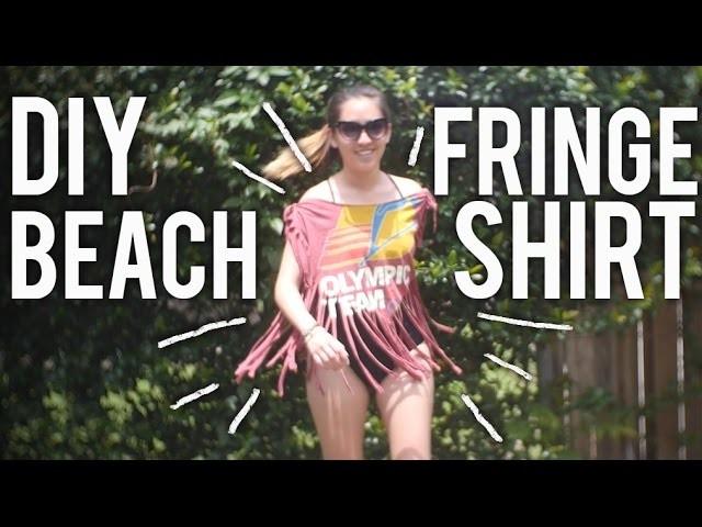 How to Make Fringe Beach Shirt : DIY