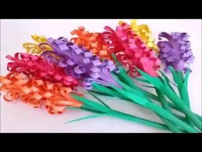 How To Make Paper Hyacinths - DIY 5 Min Craft