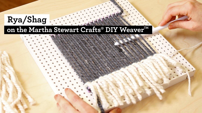 How to make Rya Shag with the Martha Stewart Crafts® DIY Weaver(TM)