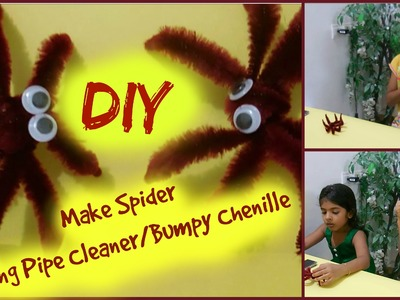 Kids Craft making spider with Bumpy Chenille.Pipe Cleaner