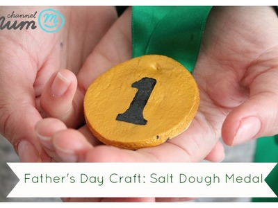 Kids Craft: Salt Dough Medal for Father's Day