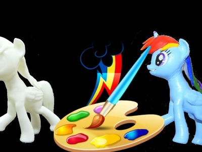 My little pony custom painting rainbow dash statue diy craft 3d printed HD