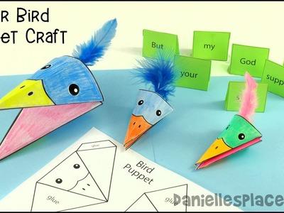 Paper Bird Puppet Craft