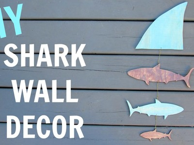 Shark Decor DIY~ Inspired by Shark Week ~ Craft Klatch ~ How To