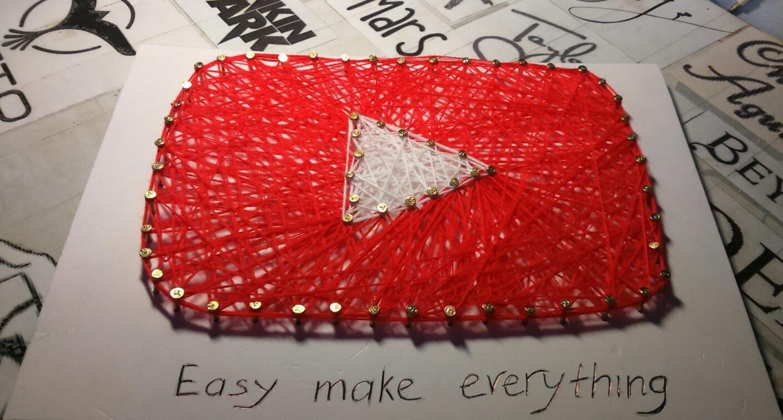 String Art Ideas Youtube Logo Icon Craft For Kid