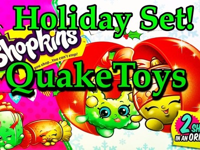 2016 Shopkins Christmas Holiday Mystery Exclusive Surprise Toy Ornament Full Set Unboxing QuakeToys