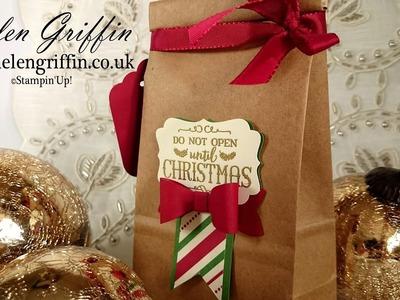 2nd Day Of Christmas 2016 - Christmas Treat Gift Bag Tutorial