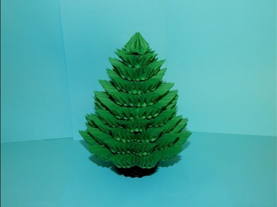 3D origami Christmas Tree tutorial part1