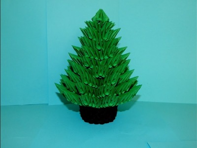 3D origami Christmas Tree tutorial part2
