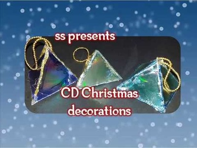 Best Christmas tree decoration ideas with Recycled CD'S. Best out of the waste decorations