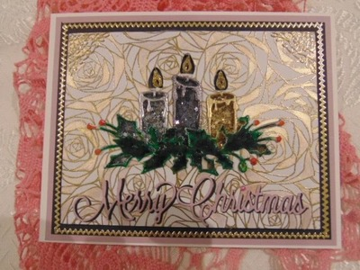 """Candle """"Flickering"""" Flame Christmas Card"""