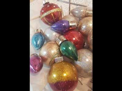 Christmas Ornaments, Gifts & Decor 2016 - Easy Glitter Ornaments