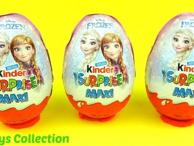Disney Frozrn Elsa & Anna Kinder Christmas Surprise Eggs 2016 YL Toys Collection