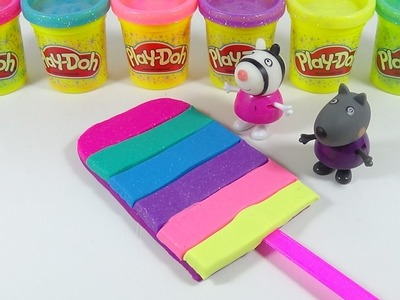 DIY How to Make Play Doh Rainbow Ice Cream with Peppa Pig - Learn Colors and Creative for Kids #1