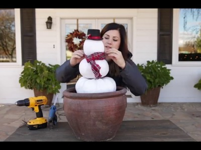 How to make a Diy pumpkin snowman at home easily