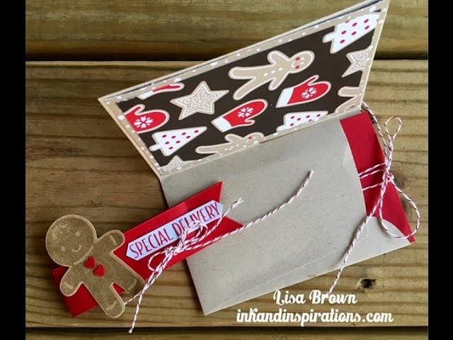 Make An Easy Christmas Gift Card Holder from An Envelope