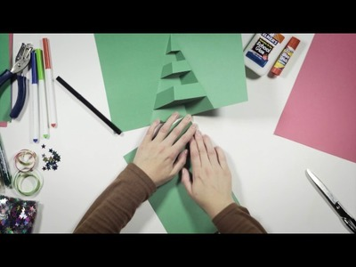 Make your own pop-up Christmas card: Christmas tree