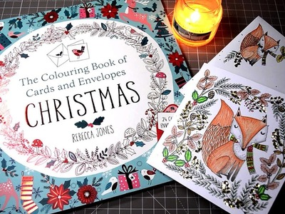 Making Christmas Cards with The Coloring Book of Cards and Envelopes