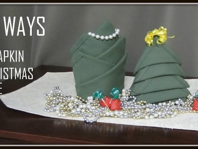 Napkin Folding: 10 Ways Christmas Tree