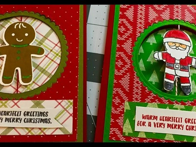NEW Cookie Cutter Christmas Spinner Card