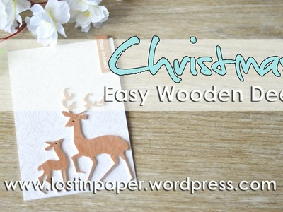 Penny Black   Easy Diecut Wooden Deer for Christmas!