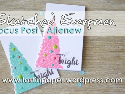 Quick & Easy Christmas Card set with Altenew Sketched Evergreen!