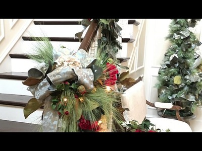 Rebecca Robeson Inspired - 2016 Christmas Garlands And Stairways Decorated For Christmas