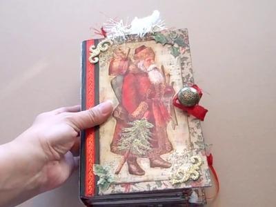Santa is Coming Christmas Junk Journal