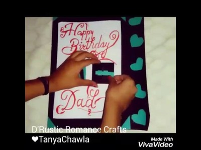 Birthday card for DAD handmade by D'Rustic Romance Crafts By TanyaChawla