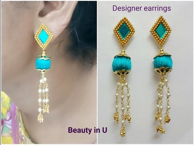 Designer Silk Thread Earrings Tutorial