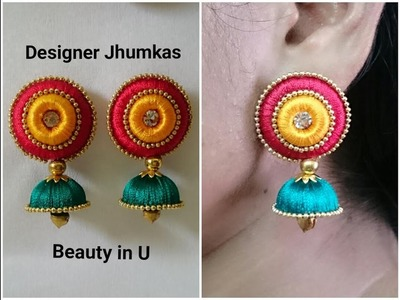 Designer Silk Thread Earrings Tutorial | Do it yourself at Home